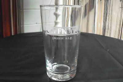 """Irish Ale Caffrey's 1 Pint Drinking Glass 6"""" - Classic Advertising Collectable"""