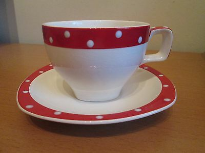 Midwinter Stylecraft Red Domino Cup And Saucer Jessie Tate Retro Vintage