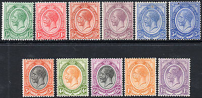 South Africa 1913-24 ½d to 1s3d King's Heads complete SG.3/13 mint cat.£58+