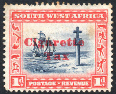 South West Africa 1931 1d Cigarette Tax revenue, Barefoot 1, English, used