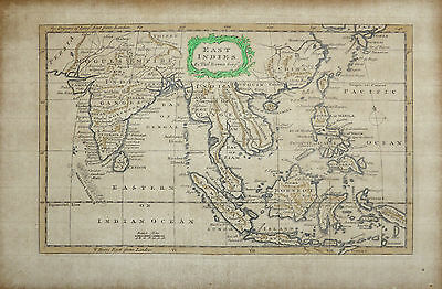 1773 map 'East Indies' by Thomas Bowen