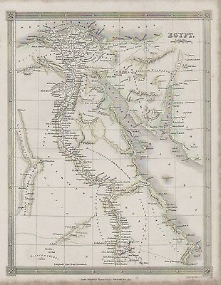 c1842 map of Egypt by Alex Findlay