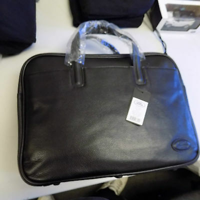 Genuine Landrover Black Leather Bag with laptop cover and strap. LRLUGNLB New