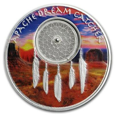 2017 Niue $2 NZD Apache Dream Catcher Colorized 1 oz .999 Silver Proof Coin