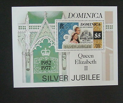 Dominica 1977 Royal Silver Jubilee Visit Miniature Sheet MS MNH UM unmounted x