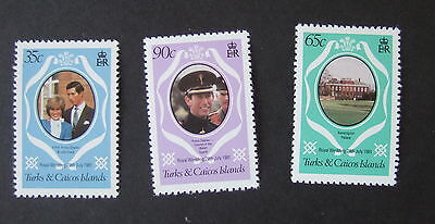 Turks & Caicos 1981 Royal Wedding set from sheetlets Lady Di MNH UM unmounted x