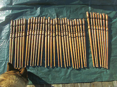 37 Antique Victorian Stair Case Rail/Bannister/Baluster Spindles Cherry LQQK!