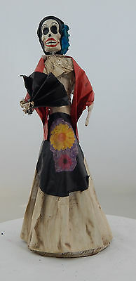 Mexican Paper Mache Catrina Doll Day of the Dead Folk Art   # 520 S