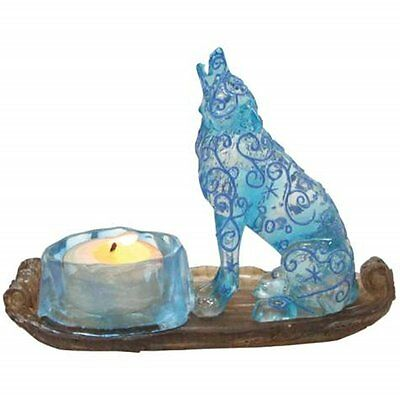 Howling Wolf Figurine  with Tealight Holder Call of the Wild Westland  NIB