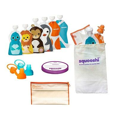 Squooshi Reuable Pouches Travel Kit |  $40 Value !