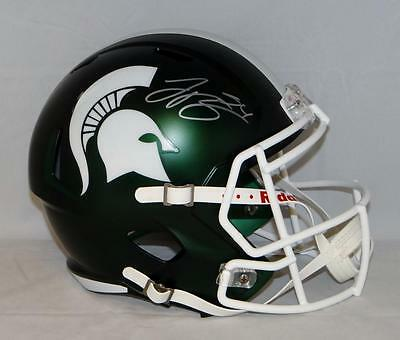 LeVeon Bell Autographed Michigan State Spartans F/S Speed Helmet- JSA W Auth