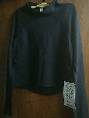 NWT lululemon Hill And Valley Mock Neck - Size6 black