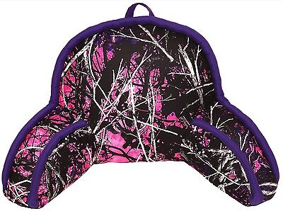 New Muddy Girl Lounge Sit Up Purple & Pink  Camouflage Camo Pillow