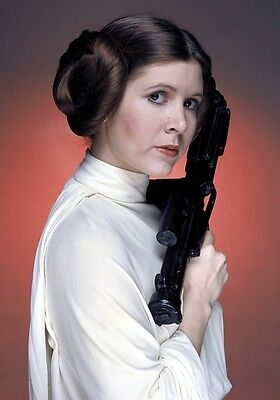 CARRIE FISHER Princess Leia Organa PHOTO Print POSTER Star Wars Episode IV 001