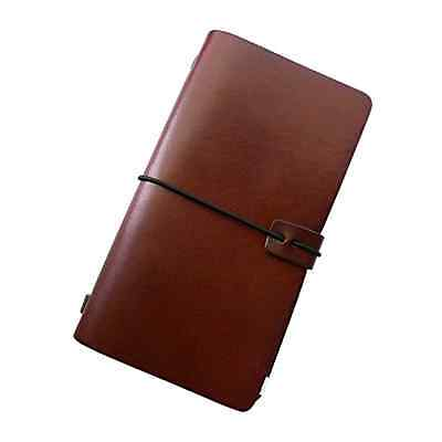 Handmade Leather Journal Notebook Retro Refillable Travel Notepad Diary (Coffee)