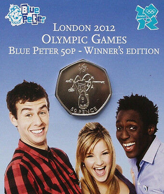 2009 ❤ ** 50p London 2012 Olympic Games Blue Peter Coin (BU) Mint Gift Pack.