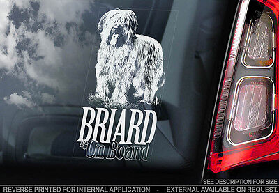 Briard - Car Window Sticker - Dog Sign -V01