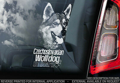 Czechoslovakian Wolfdog - Car Window Sticker - Dog Sign -V02
