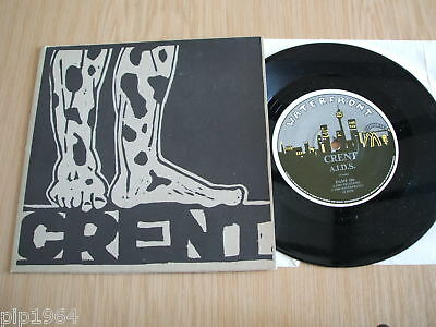 "crent a.i.d.s. 1989 australian punk 7"" waterfront label"