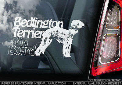 Bedlington Terrier - Car Window Sticker - Dog Sign -V01
