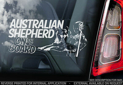 Australian Shepherd - Car Window Sticker - Dog Sign -V06