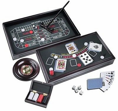 Championship Casino Deluxe Craps, Roulette, and Blackjack Table Gaming Set