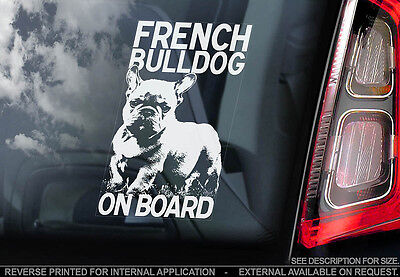 French Bulldog - Car Window Sticker - Dog Sign -V01