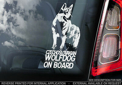 Czechoslovakian Wolfdog - Car Window Sticker - Dog Sign -V01