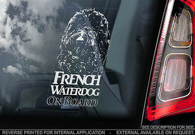 French Waterdog - Car Window Sticker - Dog Sign -V01