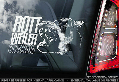 Rottweiler - Car Window Sticker - Dog Sign -V02