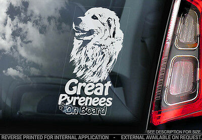 Great Pyrenees - Car Window Sticker - Dog Sign -V01
