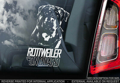 Rottweiler - Car Window Sticker - Dog Sign -V05