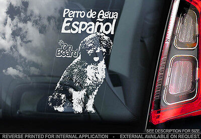 Perro de Agua Español - Car Window Sticker - Dog Sign -V01