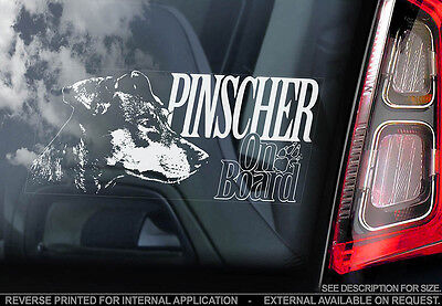 Pinscher - Car Window Sticker - Dog Sign -V01