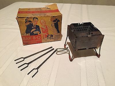 Antique Vintage BAR-B-Q Marshmallow Toaster Angelus Roaster with Box & Forks
