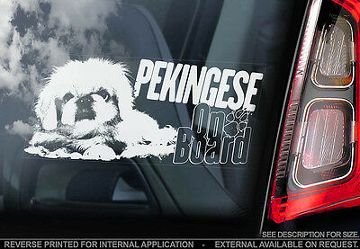 Pekingese - Car Window Sticker - Dog Sign -V02