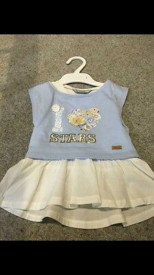 MAYORAL Baby Girl Blue Two Piece Tshirt Top Set Age 2 Years 24m Rrp £18