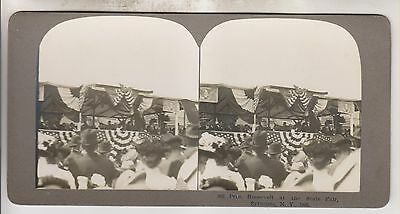 1903 Stereoview - President Teddy Roosevelt At The State Fair - Syracuse Ny