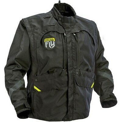 FLY ATV/Dual Sport Motorcycle Jacket  Patrol Black