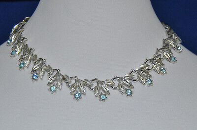 Beautiful Vintage Designer Signed Coro, Silver Toned Necklace