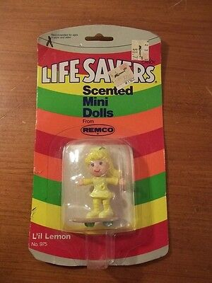 RARE Vintage 1982 REMCO TOYS LIFESAVERS SCENTED MINI DOLLS NEW NIB L'IL LEMON