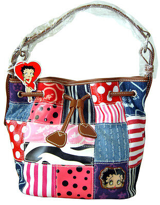Licensed BETTY BOOP Patchwork Tote Bag Purse (NEW) U.S. Seller