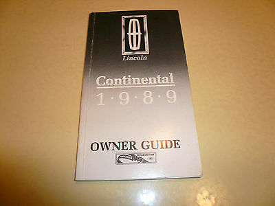 1989 Lincoln Continental Owner Guide - Vintage - Glove Box