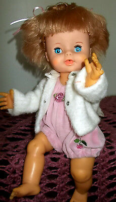 VINTAGE Eegee DOLL 1970,S 13 INCH