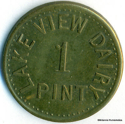 ONTARIO, Pembroke - Lakeview Dairy 1 Pint Pritchard & Andrews Brass Inv #33