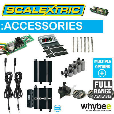 Scalextric Track Accessories & Spares Full Range - Lap Counters - Cables - Plugs