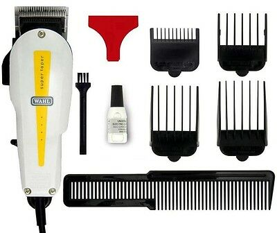 Wahl Super Taper Clipper Trimmer Hair Professional Wired Featuring Mounts
