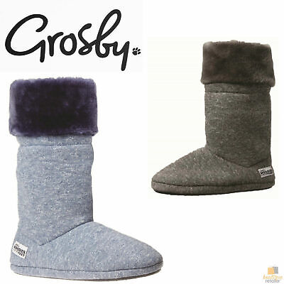 GROSBY Hoodies Plush Womens Slippers Boots Indoor Footwear Fluffy New