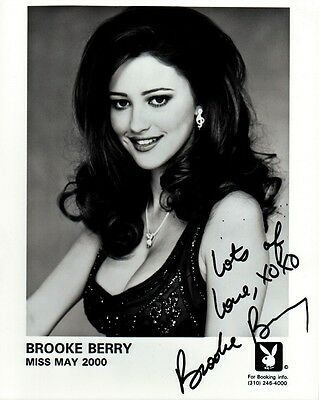 Playboy Playmate BROOKE BERRY Signed Photo