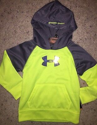 Under Armour Little Boys' Color-Blocked Hoodie Hi Vis Yellow Size 2T NWT Neon